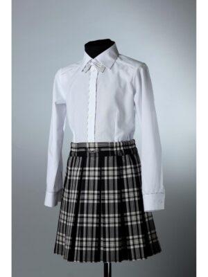 Блуза для дівчинки біла з метеликом