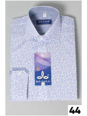 Сорочка в дрібні огірки блакитні для хлопчика