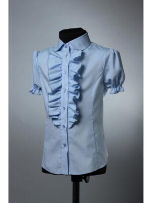 Блуза для дівчинки блакитна короткий рукав