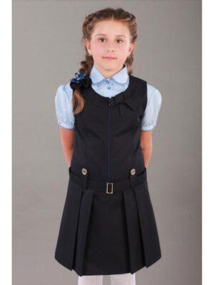 Сарафан шкільний для дівчинки синій