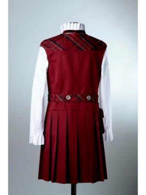 Сарафан для девочки школьный бордового цвета 195