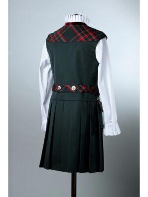 Сарафан для девочки школьный зеленого цвета с сумочкой 195