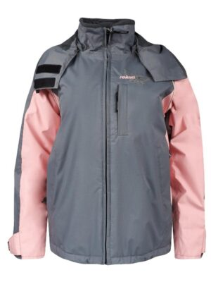 Куртка для девочки зимняя лыжная серо-розовая 31054 Reima