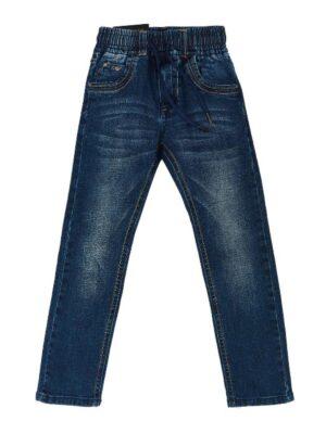 Джинсы для мальчика на резинке темный джинс 1943 Husseny