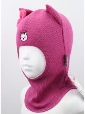 Шапка шолом для дівчинки темно рожева Kitty