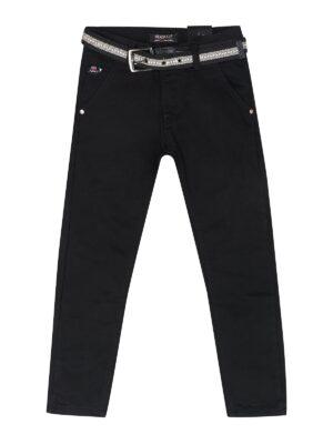 Брюки джинсы черные на утеплении для мальчика с ремешком 89937 Seagull