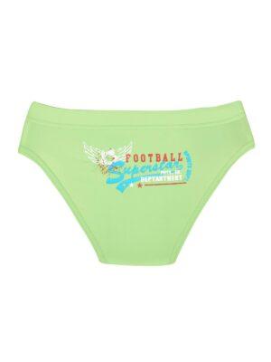 Плавки для мальчика салатовые с cине голубой вставками Football-5 Keyzi