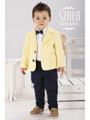 Костюм для хлопчика ошатний з жовтим жакетом