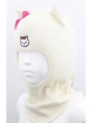 Шапка шолом для дівчинки Біла Hello Kitty
