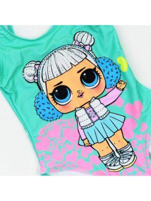 Купальник для дівчинки цілісний бірюзового кольору Lola