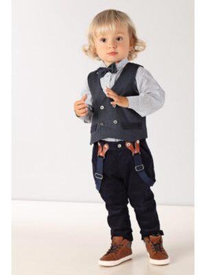 Ошатний комплект для хлопчика в чотирьох предмета з красивим жилетом