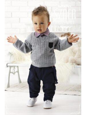 Комплект з трьох предметів для хлопчика кофта з сорочкою і штани