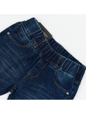Брюки для мальчика джинсовые синие на резинке 1942 Husseny.