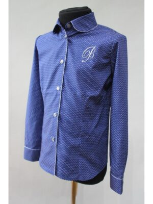 Блуза для дівчинки в блакитному дизайні кольорова