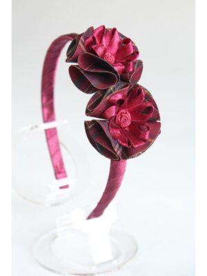 Обруч для девочки в бордовом цвете в ассортименте