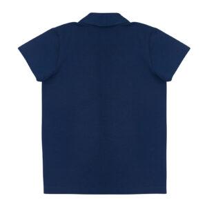 Поло для мальчика темно синяя короткий рукав