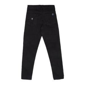 Штани для хлопчика підліткові чорні бавовняні 6555