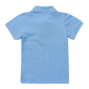 Поло для мальчика голубого цвета Cegisa короткий рукав