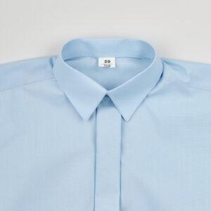 Рубашка для мальчика голубая Арт. 01-15-1 Jankes