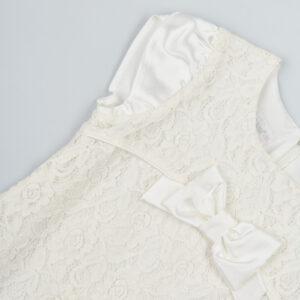 Нарядное выпускное платье молочного цвета гипюровое ViWIENA