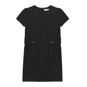 Сарафан для дівчинки шкільний сірого кольору з кишенями