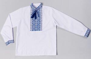 Вышиванка в голубую вышивку для мальчика Володя
