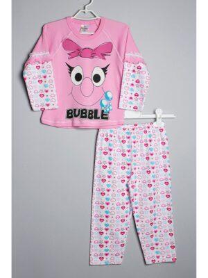 Пижама с длинным рукавом розовая 107 Kazan bebe
