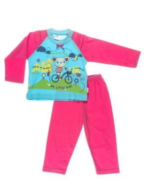 Пижама для девочки розовая с бирюзой