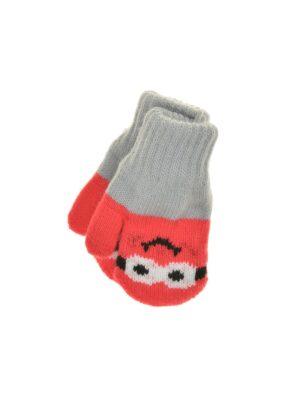 Перчатки Margot Bis для девочки Красные, Серые