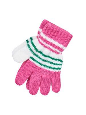 Пальчатки Margot Bis для дівчинки Білі, Рожеві