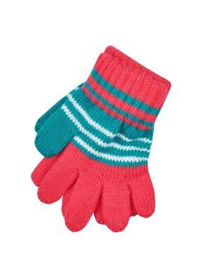 Перчатки Margot Bis для девочки Красные, зеленые