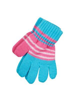 Перчатки Margot Bis для девочки голубой, розовый