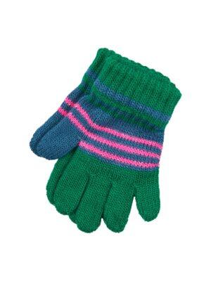 Пальчатки Margot Bis для дівчинки Рожеві, Зелені
