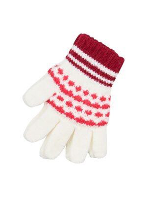 Пальчатки Margot Bis для дівчинки Молочні, Бордові