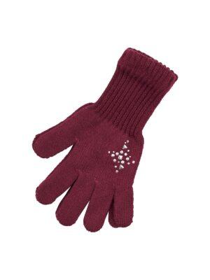 Пальчатки Margot Bis для дівчинки Бордові