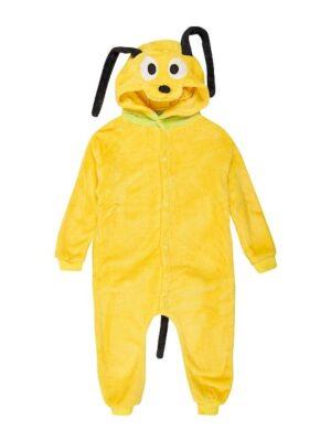 Кігурімі піжама для дітей тепла з велсофт жовта