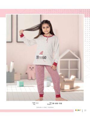 Піжама тепла для дівчинки підлітка бежевого кольору