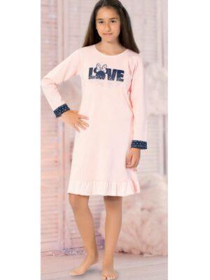 Нічна сорочка для дівчинки персик