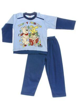 Пижама для мальчика с мишкой голубо-синяя