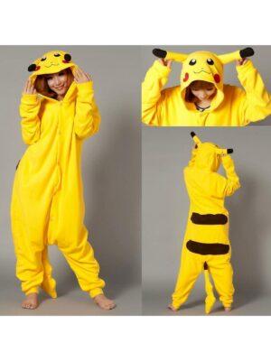 Кігурімі піжама для дівчинки тепла велсофт жолтая