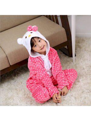 Кігурімі піжама для дівчинки тепла велсофт яскрава