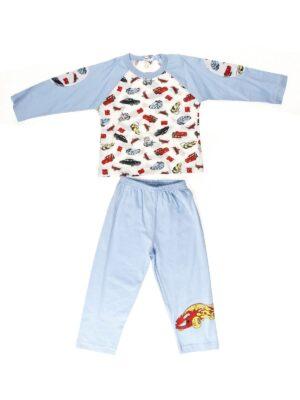 Піжама для хлопчика синя з білим з принтом