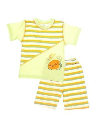 Піжама для хлопчика в смужку ліммонного кольору річна