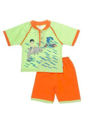 Пижама для мальчика яркая с мальчиком и дельфинами
