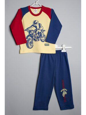 Пижама для мальчика стильная с мотоциклистом
