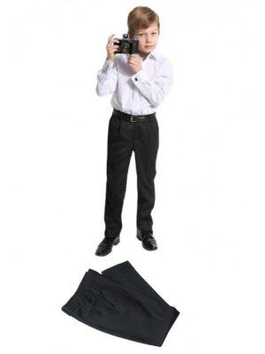 Брюки для мальчика классические черного цвета 18650 Jankes