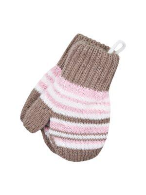 Перчатки Margot Bis для девочки Коричневые, Розовые