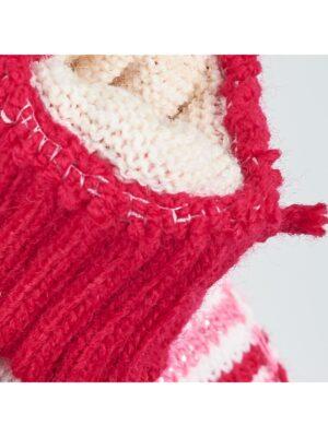 Перчатки Margot Bis для девочки Белые, красные