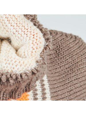 Перчатки Margot Bis для мальчика Коричневые, Оранжевые