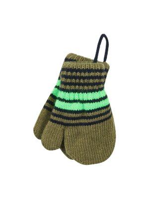 Варежки Margot Bis для мальчика Черный, Зеленый